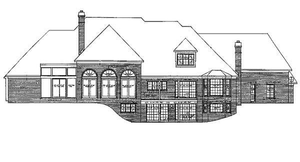 European House Plan 90228 Rear Elevation