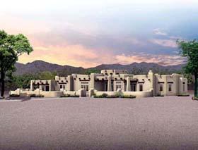 Santa Fe Southwest House Plan 90229 Elevation