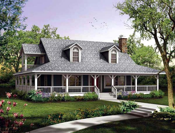 Country House Plan 90230 Elevation