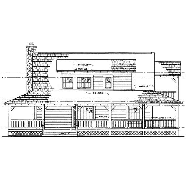 Country House Plan 90230 Rear Elevation