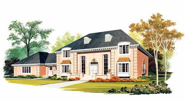 Colonial European Southern House Plan 90232 Elevation