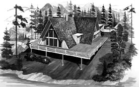 A-Frame House Plan 90233 Elevation