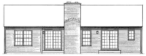 Ranch House Plan 90235 Rear Elevation