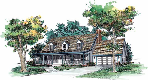 Cape Cod Country House Plan 90237 Elevation