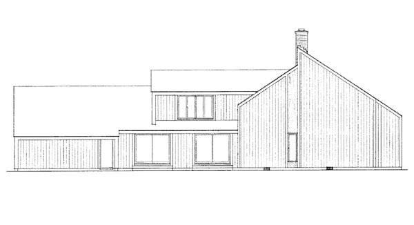 Contemporary House Plan 90238 Rear Elevation