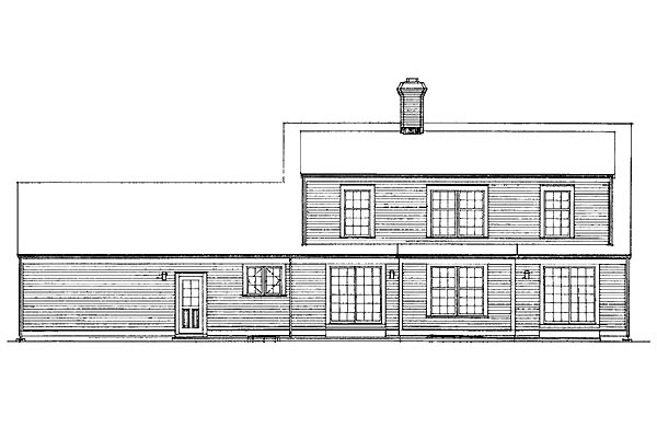 Colonial House Plan 90241 Rear Elevation
