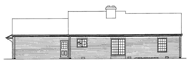 Country Ranch House Plan 90243 Rear Elevation