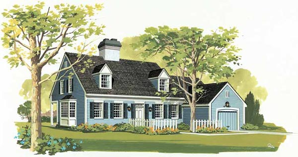 Cape Cod Country House Plan 90244 Elevation