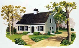 Cape Cod House Plan 90245 Elevation