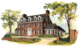 Colonial House Plan 90246 Elevation