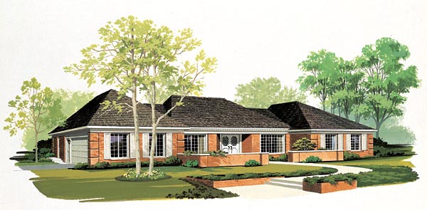 Ranch House Plan 90247 Elevation