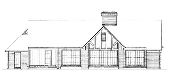 Ranch House Plan 90248 Rear Elevation