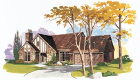 House Plan 90251 | Traditional Style Plan with 2211 Sq Ft, 3 Bedrooms, 3 Bathrooms, 2 Car Garage Elevation
