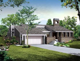 Contemporary House Plan 90252 Elevation