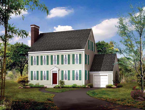 Colonial House Plan 90253 Elevation