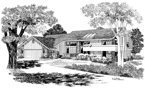 Contemporary House Plan 90254 Elevation