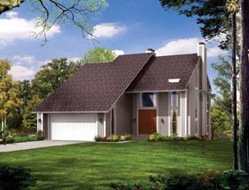 Contemporary House Plan 90255 Elevation