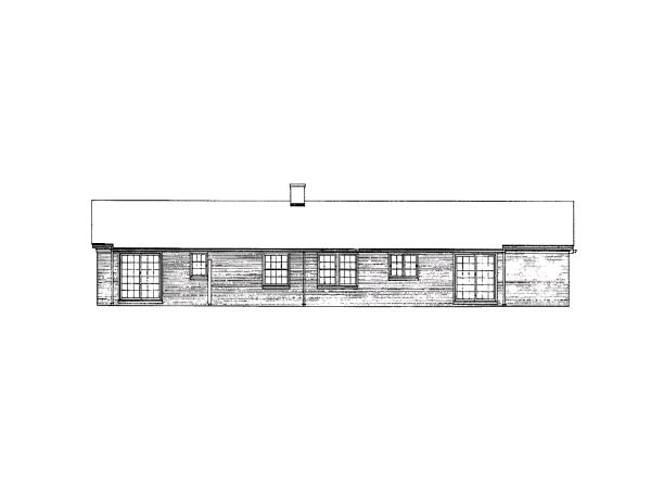 Ranch House Plan 90257 Rear Elevation