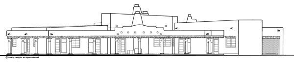 Santa Fe Southwest House Plan 90260 Rear Elevation