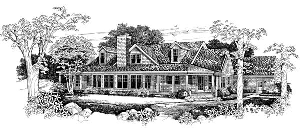 Country Farmhouse Victorian House Plan 90261 Rear Elevation