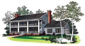 House Plan 90265 | Southern Style Plan with 2928 Sq Ft, 4 Bedrooms, 3 Bathrooms, 2 Car Garage Elevation