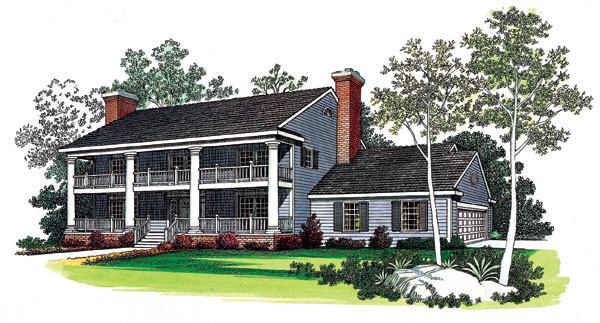 Southern House Plan 90265 Elevation