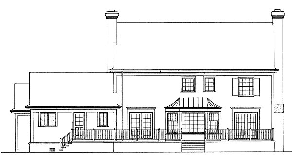 Southern House Plan 90265 Rear Elevation