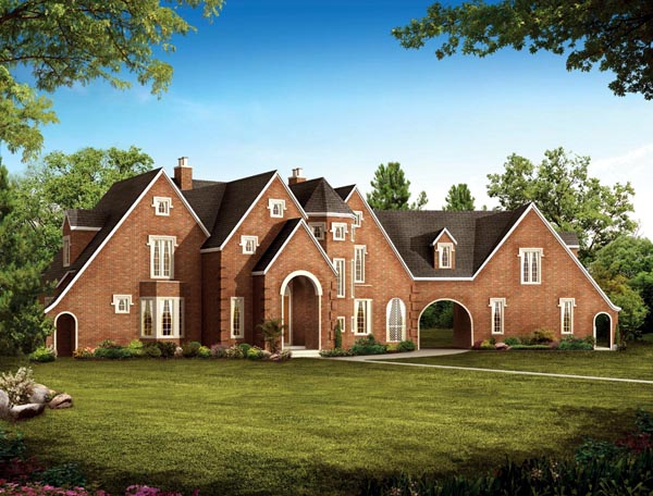 House Plan 90266 | European Traditional Style Plan with 2361 Sq Ft, 5 Bedrooms, 5 Bathrooms, 2 Car Garage Elevation