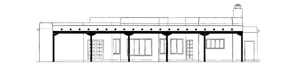 Santa Fe Southwest House Plan 90272 Rear Elevation