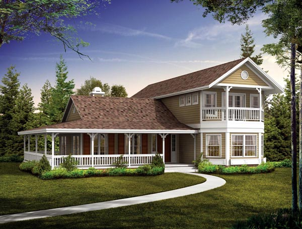 Country Farmhouse Victorian House Plan 90281 Elevation