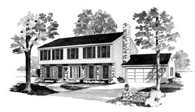 Ranch House Plan 90284 Elevation