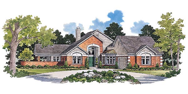 Traditional House Plan 90286 Elevation