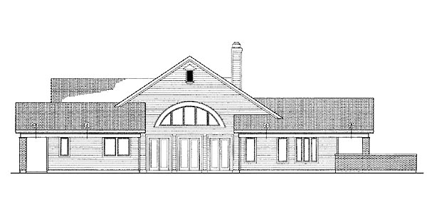 Traditional House Plan 90286 Rear Elevation