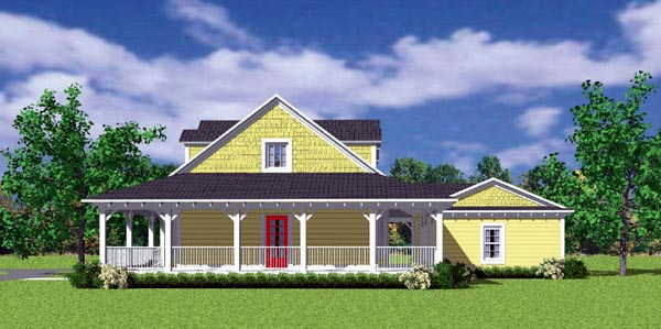 Country, Farmhouse, Victorian House Plan 90288 with 3 Beds, 2 Baths, 2 Car Garage Picture 2