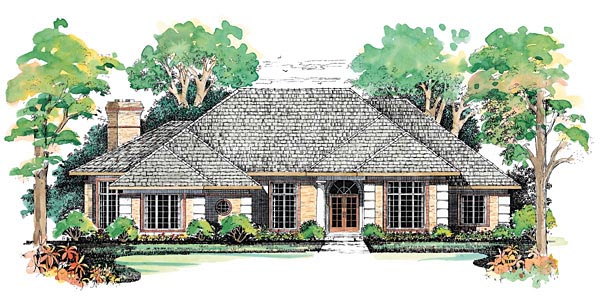 Traditional House Plan 90292 Elevation