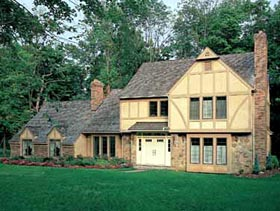 House Plan 90295 | European Tudor Style Plan with 2617 Sq Ft, 4 Bedrooms, 4 Bathrooms Elevation