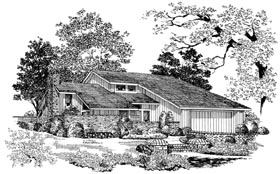 Contemporary House Plan 90296 Elevation