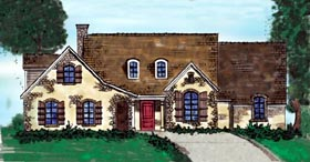 Country European House Plan 90300 Elevation
