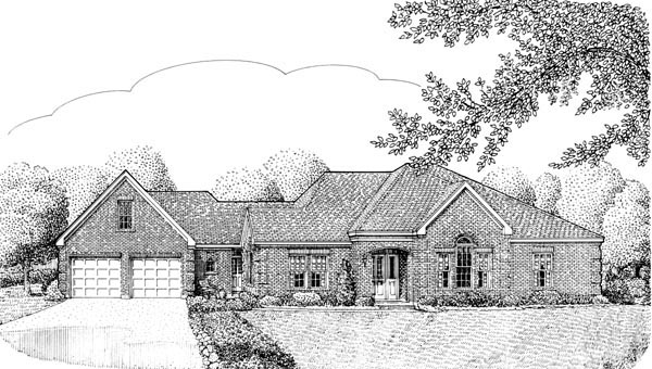 Contemporary European House Plan 90301 Elevation