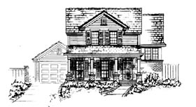House Plan 90305 | Country Style Plan with 1925 Sq Ft, 3 Bedrooms, 3 Bathrooms, 2 Car Garage Elevation