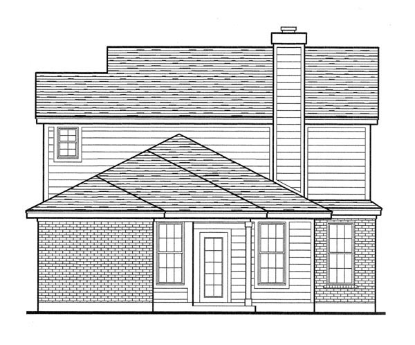 Country House Plan 90305 Rear Elevation