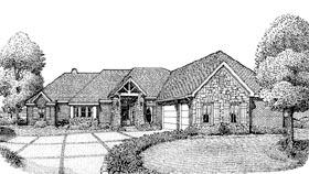 European House Plan 90306 with 3 Beds, 3 Baths, 3 Car Garage Elevation