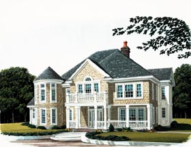 Colonial Craftsman House Plan 90307 Elevation