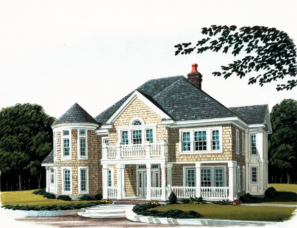 Colonial, Craftsman House Plan 90307 with 4 Beds, 4 Baths, 3 Car Garage Elevation