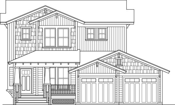 Country Craftsman House Plan 90310 Elevation