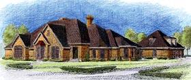 European House Plan 90311 with 4 Beds, 4 Baths, 3 Car Garage Elevation