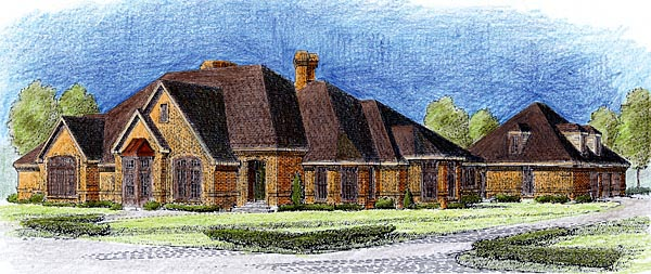 European House Plan 90311 Elevation