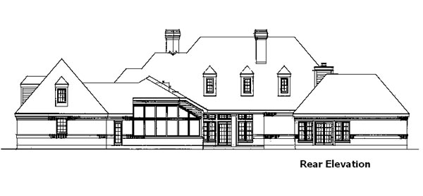 European House Plan 90311 Rear Elevation