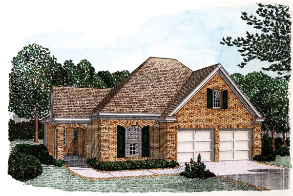 Country European House Plan 90312 Elevation