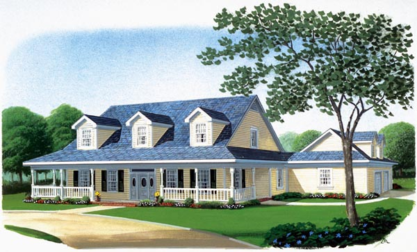 Country Farmhouse Southern House Plan 90313 Elevation